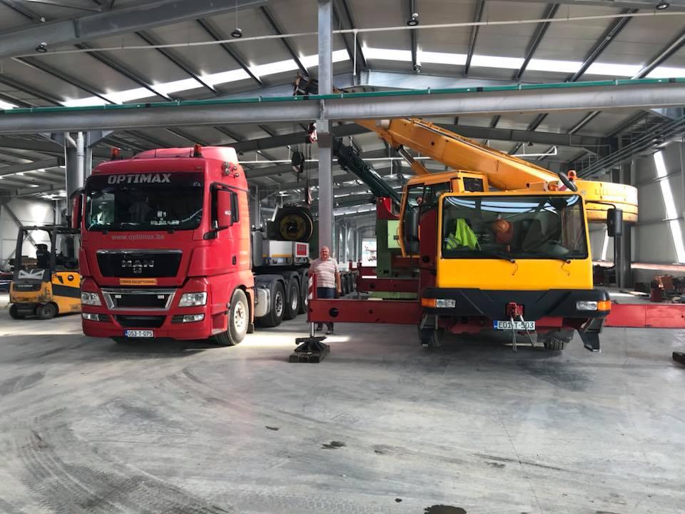 Transport mašina i angažman mobilne dizalice LIEBHERR LTM 1030-2
